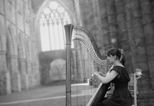 Harpist Tintern Abbey
