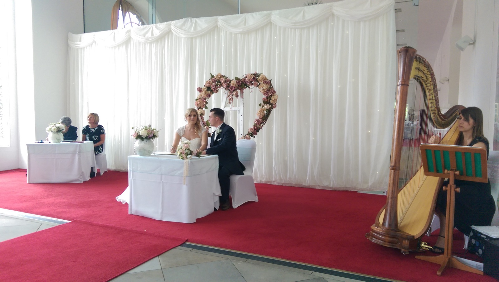 Margam Orangery Neath Port Talbot Wedding Harpist South Wales