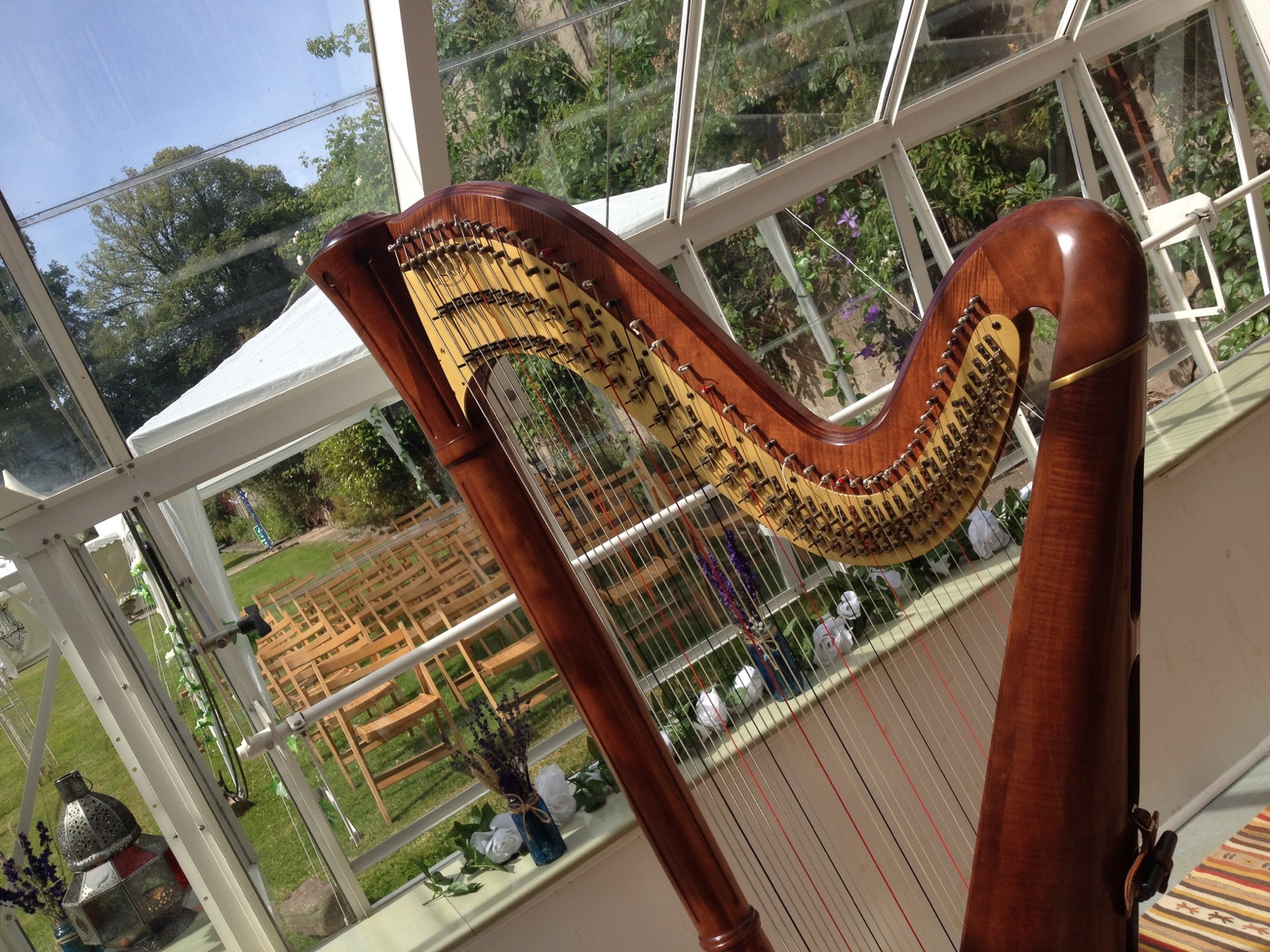 Glan Usk Estate Wedding Harpist